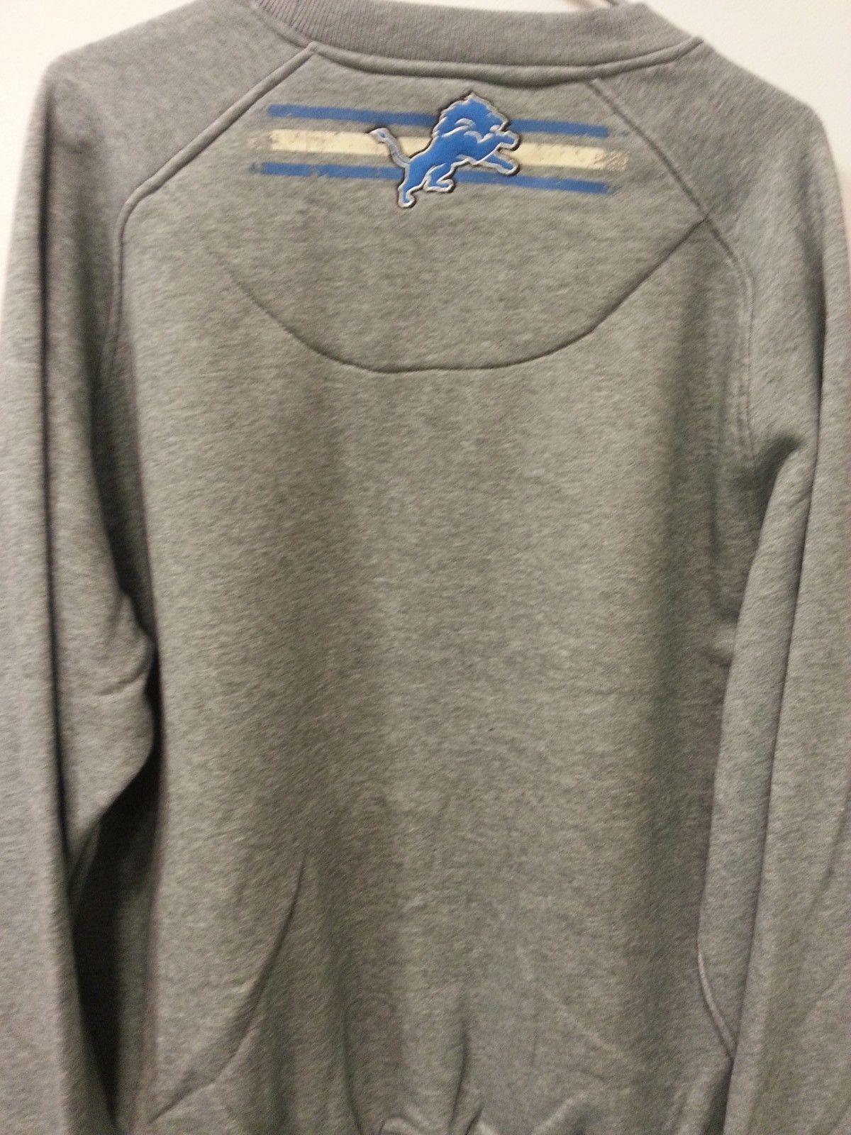 Brand NEW DETROIT LIONS Crew Neck Crewneck 'BIG TIME' sweatshirt AUTHENTIC