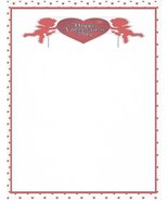 Happy Valentine's Day Cupid Stationery Printer Paper 26 Sheets - $9.89