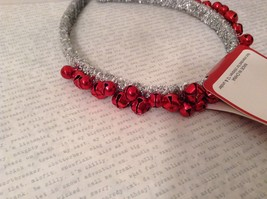 Jingle bell fashion head wear band choice of color way silver red green headband image 2