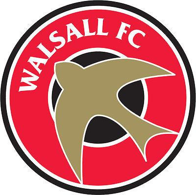 Walsall FC crest vinyl sticker shaped contoured football