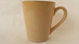 Royal Norfolk Beige Ribbed Drip Glaze Coffee Tea Mug Cup - $15.83