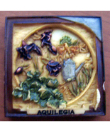 "Aquilegia  Floral Fridge Magnet 2"" Garden Harmony Kingdom - $7.00"
