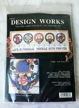 Design Works Cups & Saucers Life is Fragile Counted Cross Stitch Kit-NEW Sealed - $17.05