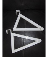Over The Door Clothes Hangers Large Set of 2 White - $14.00