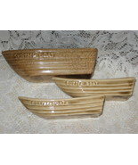 VTG Shrimp & Butter Serving Boats -Aloa Corp  USA- Set of 3 - $12.00