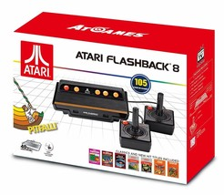 Atari Flashback 8 Game System 105 Built In Games 2 Wired Joysticks 2017 NEW - $35.99