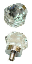 Lot of 6 Small Clear Solid Crystal Glass Drawer Pull, Cabinet Knobs - $29.69