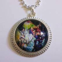 Legend of the Dragoon Dart Rose Shana Transformations Glass Stone Necklace - $15.00