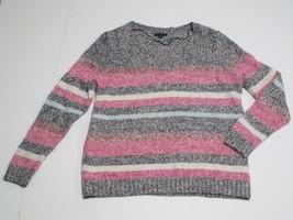 Tommy Hilfiger Navy Stripe Cozy V-Neck Pullover, Sz. XLarge - $30.41