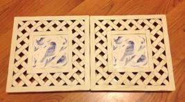 2 Marjolein Bastin Kitchen Trivets Hotpads Whit... - $9.84