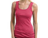 Port Authority Ladies New Double Needle Sleeveless Rib Stretch Tank Top Pink L