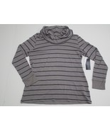 Tommy Hilfiger Striped Cowl-neck Top, Gray, Sz. XLarge - $27.20