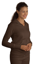 Sport-Tek Ladies Coat Full-Zip Hooded Fleece Jacket Medium Brown - $13.09
