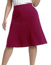 DBG Women's Slim Lady High Waisted A Line Skirt 2XL Magenta - $25.73