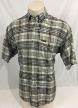 Woolrich Original Outdoorwear Green Tan Plaid Button Up Casual Shirt Men... - $39.99