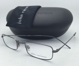 New JOHN VARVATOS Eyeglasses V128 48-21 145 Gunmetal Frames w/ Clear Demo Lenses