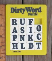 Vtg DIRTY WORD Plastic SLIDE Handheld Word Puzzle 1977 APC Hong Kong SHI... - $14.99
