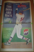 1997 Eastern League Lowell Spinners Season Preview Supplement Boston Red... - $5.75
