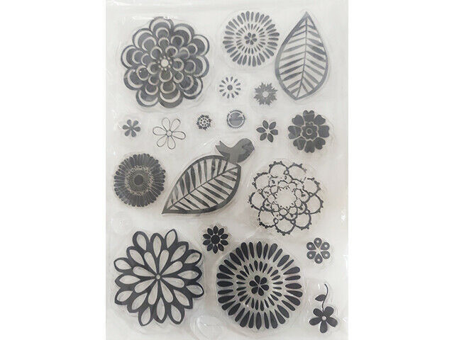 Flowers and Leaves Clear Stamp Set