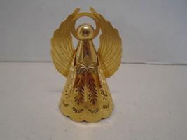 HMK 1988 Metal Angel Christmas Ornament Cone Gold - $4.99