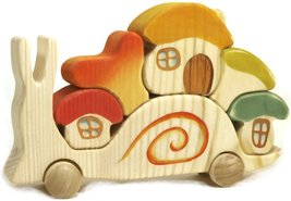 Snail with 3 Houses and 2 Mushrooms - Waldorf H... - $32.00