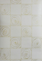 Raised Contemporary Tile With Gold Grout Wallpaper 36463 - $10.35