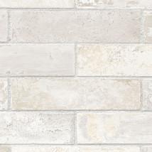 Off White, Cream, Grey & Beige Realistic Brick ... - $29.92
