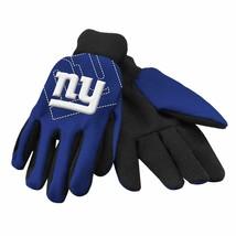 New York Giants Blue/Black Raised Logo Licensed NFL Sport Utility Gloves... - $39.59