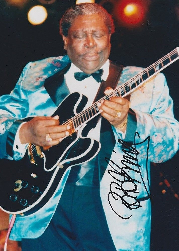 Jazz Musician B.B. King signed 5 x 7 reprint King of the Blues guitarist