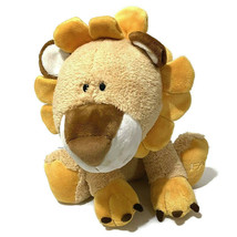 "FAO Schwarz Toys R Us Plush Lion Sun Flower Mane 18"" Orange Smiling Face... - $45.82"