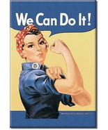 Refrigerator Magnet Rosie the Riveter We Can Do It! - $3.25
