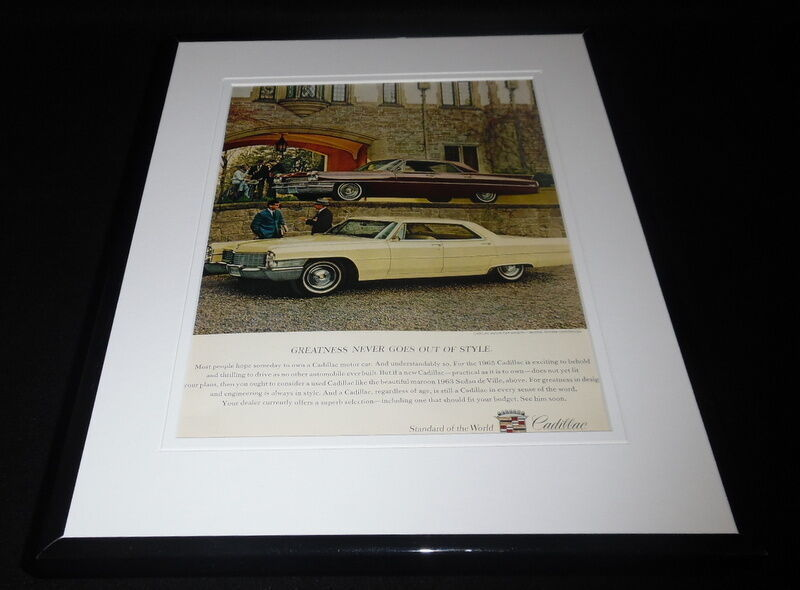 Primary image for 1963 Cadillac Sedan De Ville 11x14 Framed ORIGINAL Vintage Advertisement