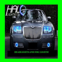2005-2010 CHRYSLER 300 BLUE LED HEADLIGHT+FOG HALO KIT 6 RINGS by ORACLE - $297.99
