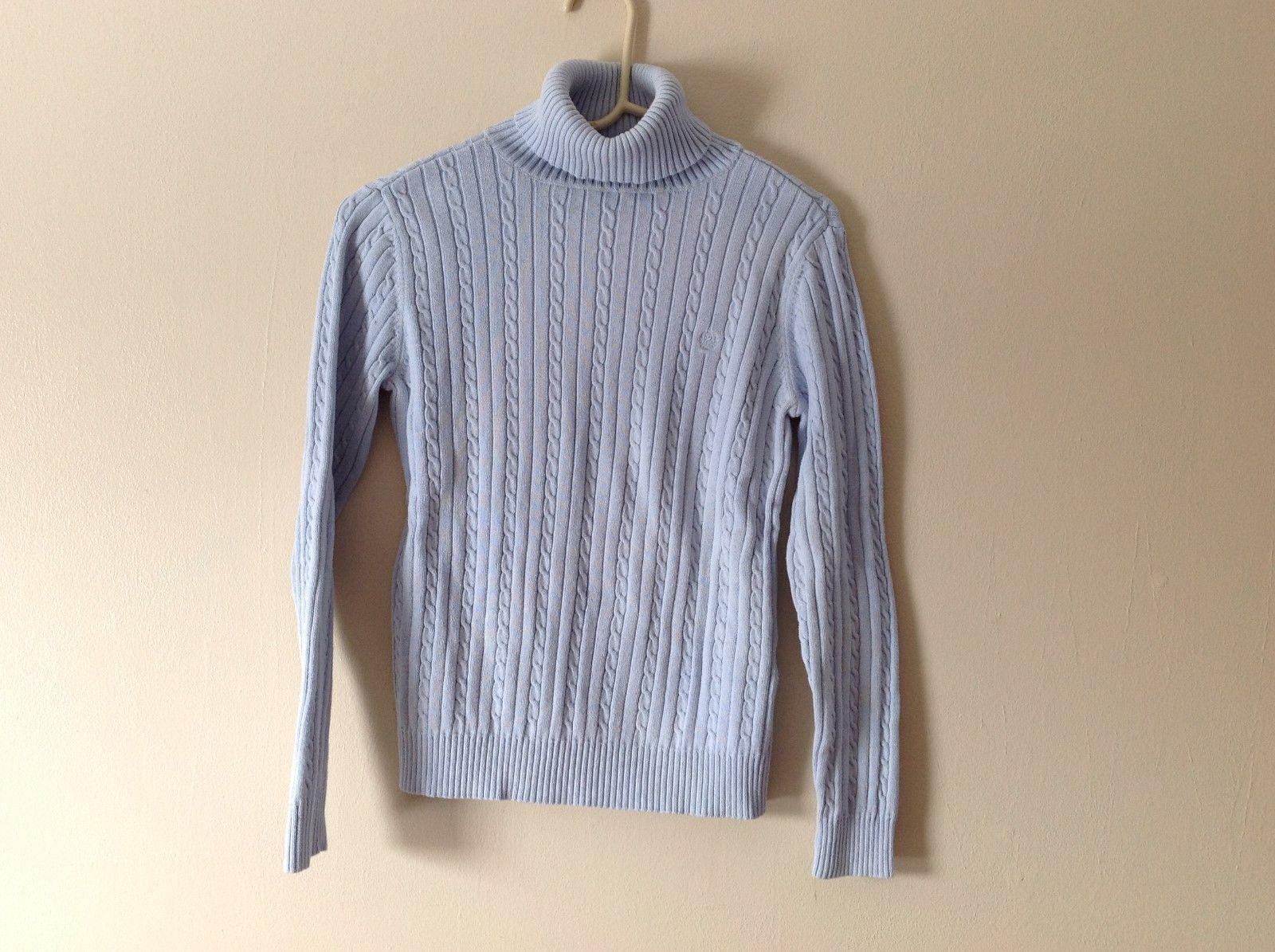 Womens IZOP turtleneck sweater in baby blue