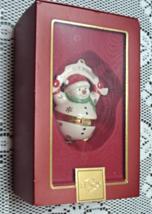 LENOX Hinged Snowman Trinket Keepsake Ornament ... - $12.25