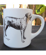 Vintage 1985 Signed Cindy Farmer Hound Dog Coffee Mug Cup Bloodhound Ter... - $11.99