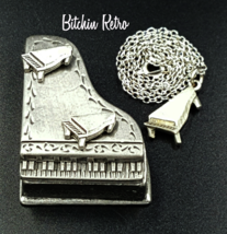 Torino Pewter Piano Set, Vintage With Necklace, Brooch, Earrings and Case - €12,71 EUR