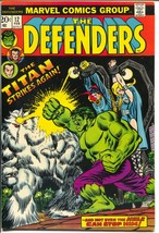 Defenders #12 1974-Marvel-Dr Strange-Hulk-Titan-last 20¢ issue-VF+ - $56.75