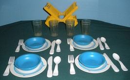 Vtg. Fisher Price Fun with Food #2107 Family Dinnerware Comp./EXC++-NR MINT(C) image 2