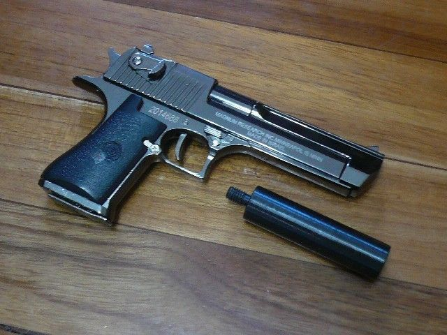 Desert Eagle w/ suppressor Pistol Display model, Downsized ...