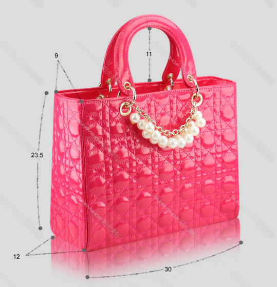 Patent Leather Women Shoulder Bags Fashion Pearl Women Tote Bags,Purse K318-1