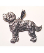 Labradoodle Pendant Dog Harris Fine Pewter Made in USA jewelry - $10.99