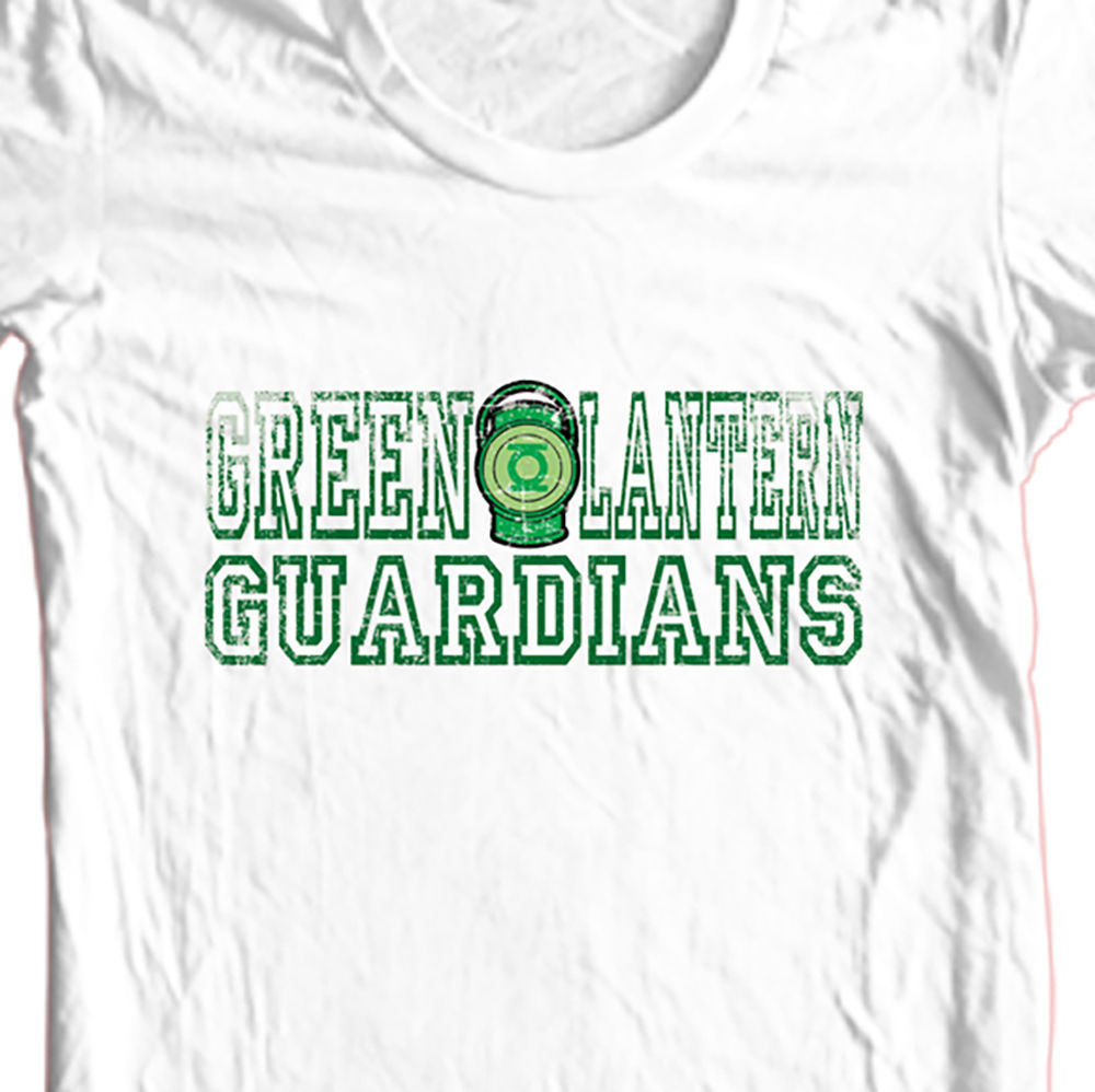 Green lantern guardians t shirt dc comic book superhero dco52 graphic white tee