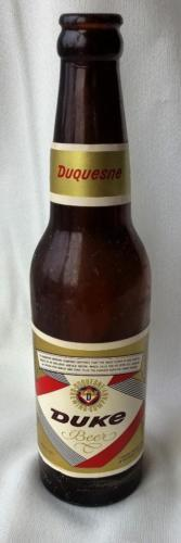 Vintage Duquesne Duke Beer Bottle Pittsburgu Pa Dark Amber Color