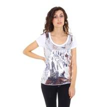 White 40 EUR - 4 US Emporio Armani ladies t-shirt short sleeve AGH70 AH 10 - $549.26