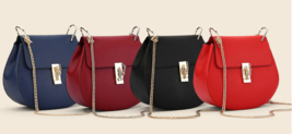 Chain Leather Shoulder Bags Small Women Handbags Messenger Bags C321-1 - ₨2,330.62 INR+