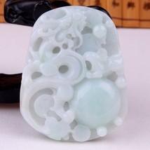 Natural   Jadeite  jade   pendant dragon   Certificate untreated  grade A - $137.61