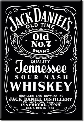 Refrigerator Magnet Jack's Daniels Old Time Old No. 7 Whiskey