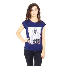 Blue 44 EUR - 8 US Emporio Armani ladies t-shirt short sleeve AGH68 CQ 35 - $435.65