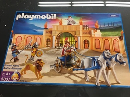 Playmobil Roman Arena New Sealed 103 Pieces 5837 Ages 4+ Vintage 2007 Box  - $110.00